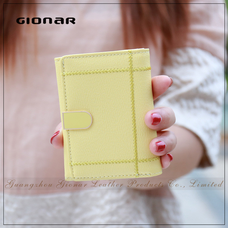 Latest Button Closure Sewing Pattern Womens Korea Wallets or Purses