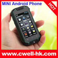 2.5 Inch Z18 MTK6572 Dual Core Military Grade Android 4.0 mini phone small size phone