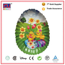 Easter Decor Fancy Food Grade Disposable Oval Paper Plate for Fruit