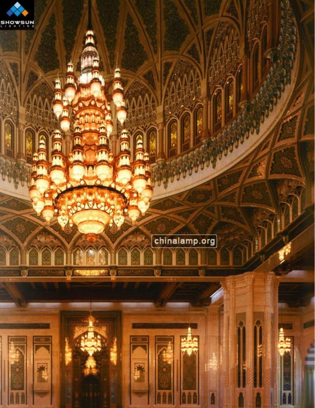 Big islam chandelier lighting