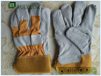cow split leather glove full palm