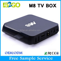Factory Wholesale M8 full hd 1080p porn video watch free tv box Amlogic S802 2g 8g 3D xbmc 14.0 2.4ghz WiFi Google Set Top Box