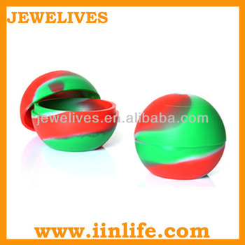 high quality customized small silicone ball container, silicone jar, oil silicone container