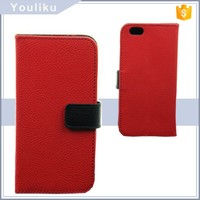 china new fashion design soft pu leather flip standing phone wallet flip mobile phone cover for iphone6 case