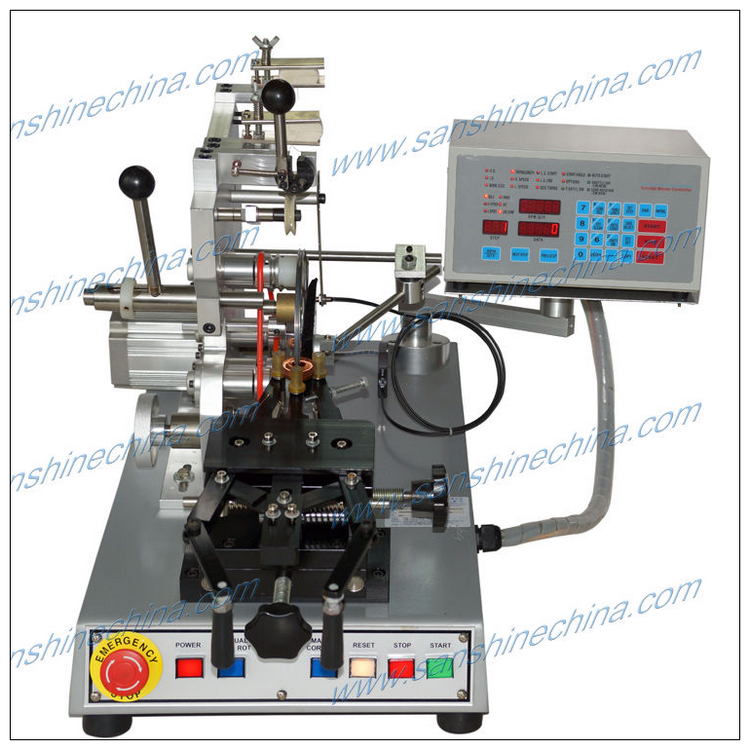 Toroidal current transformer coil winding machine