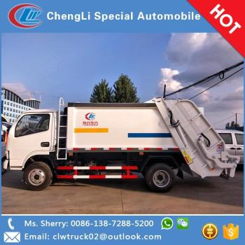 2017 special offer Dongfeng 3-5 tons compactor garbage truck for sale in Egypt