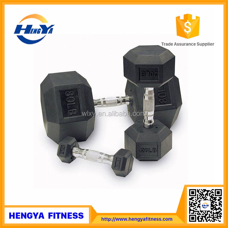 New Sports And Fitness 2017 Wholesale Rubber Dumbbells