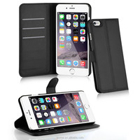For iPhone 6 3 Card Slots Leather Wallet Case Cover With Stand function