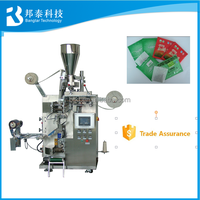Thread,Tag and Outer Envelope Automatic Tea bag Packing Machine