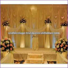 Decorative Transparent Metal Beaded String Stage Curtain