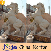 outdoor life size stone horse head sculpture NTBM-H118S
