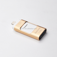 iFlash Drive USB 2.0 OTG USB Flash Drive with Micro USB Connector Memory Stick Dual Storage for Android & iOS 8pin