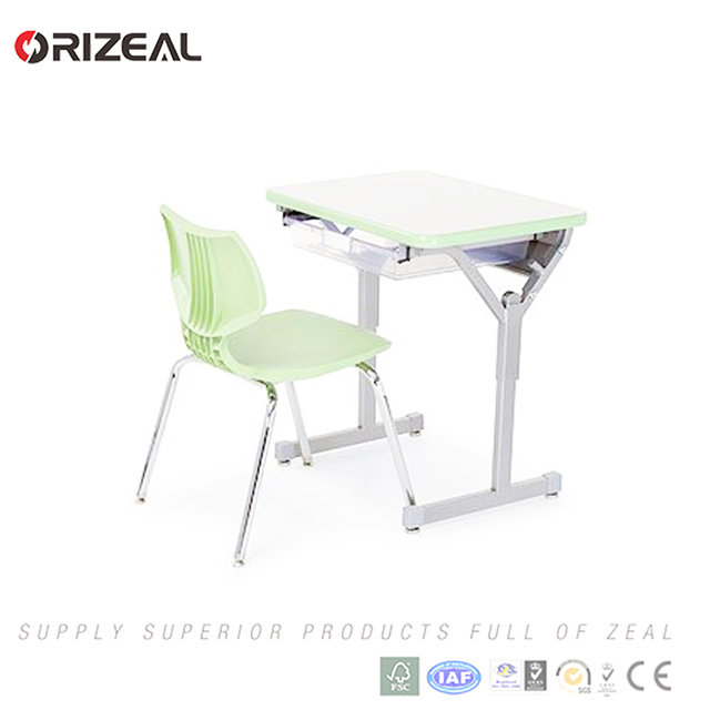 Wholesale student furniture Single school desk and chair furniture for used school