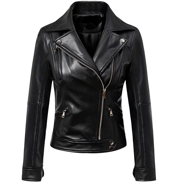 Supplier Custom Indian Motorcycle Leather Parka Jacket Model For Women