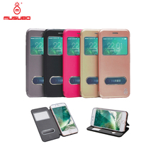 Musubo Manufacturer Flip Leather Window View Skin Case Cover for Apple iPhone6,For iPhone 6plus PU Leather View Case