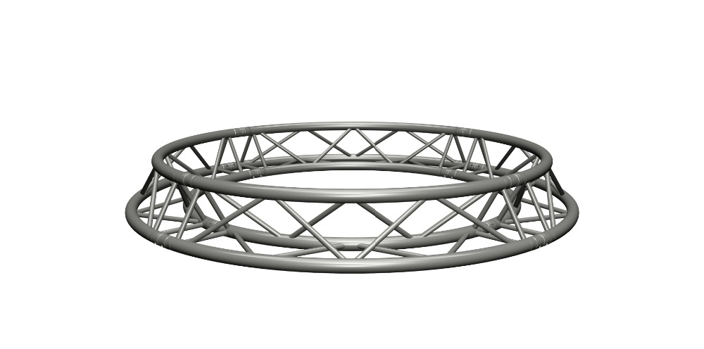 Aluminum Triangle Truss Circle Curved Lighting Truss