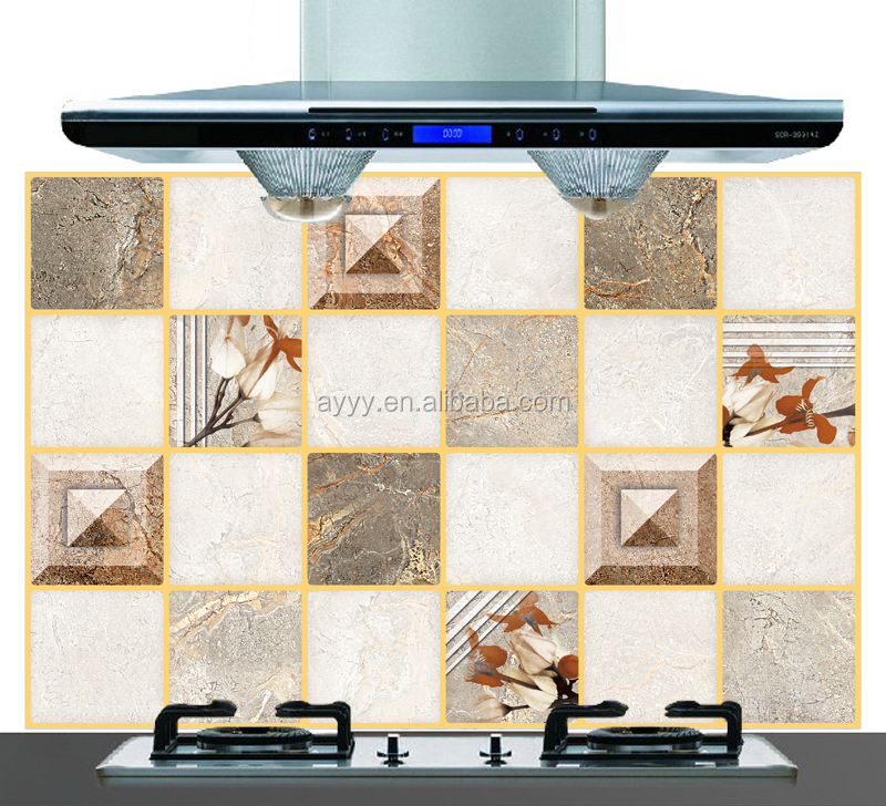 AY4021 flower simulation of ceramic tile decorative kitchen oil-proof wall sticker removable waterproof aluminum foil sticker