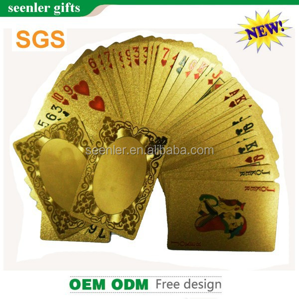 2015 fashionable wholesale 24k gold playing cards