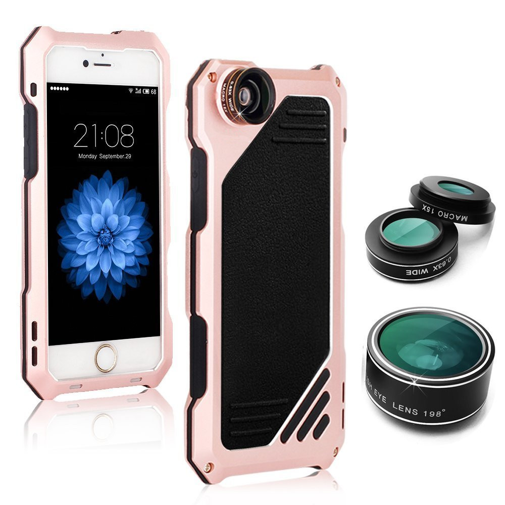 new waterproof IP54 life water Dirt Shock proof Aluminum Alloy Metal Cover Case For iPhone 6 plus 6s plus 5.5 inch with len