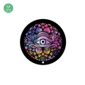 "Eco friendly natural rubber printed round yoga mat with 55"" diameter"