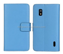 high quality Wallet PU Leather Phone Case Cover For LG Nexus 4 E960 with card holder