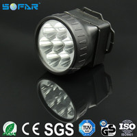 Factory cheap plastic AA battery mini powerful working bicycle headlight 7 led