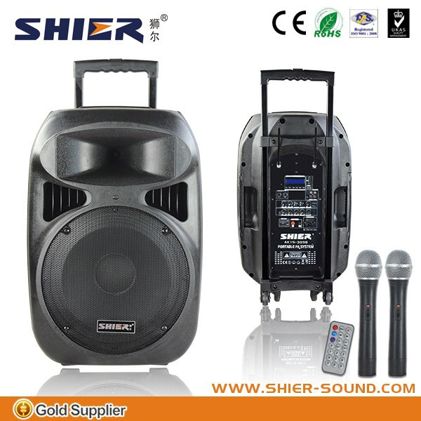 with echo microphone bluetooth waterproof USB/SD outdoor speaker karaoke bluetooth 60W plastic audio pa system