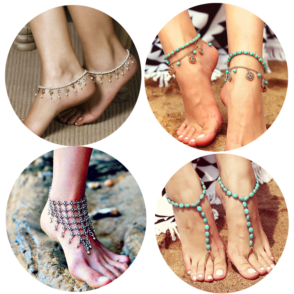 Dvacaman newest barefoot sandals fashion foot chain jewelry colorful anklet with toe ring in body jewelry foot <strong>02</strong>