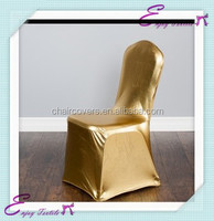 YHC#05 metallic chair cover polyester banquet spandex lycra cheap wholesale stretched chair cover