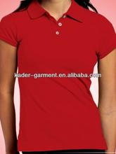 female breathable polo shirt with chest embroidered