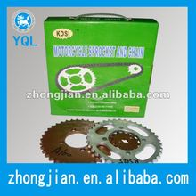 Motorcycle sprocket and chain,hebei,China for Pakistan market