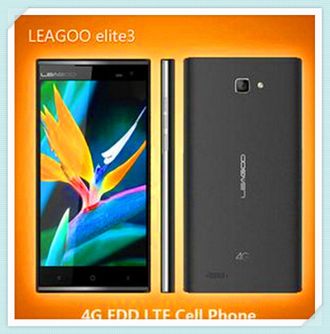 Wholesale LEAGOO ELITE 3 MTK6582+6290 1.3GHz Quad Core 5.5 Inch HD Screen China Brand Android 4.4 4G LTE Smartphone