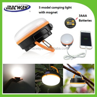 Outdoor Indoor Camping 3LED Lamp Portable Lantern Fishing Light