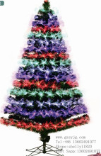 Fiber optic Artificial Christmas Trees with led light outdoor decorative christmas tree for factory wholesale