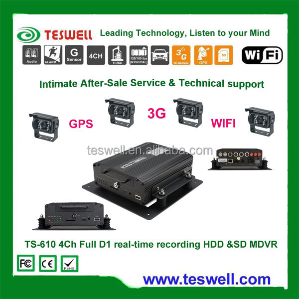Truck/Bus/Car 3G SD DVR with GPS Tracker for Vehicle Surveillance System