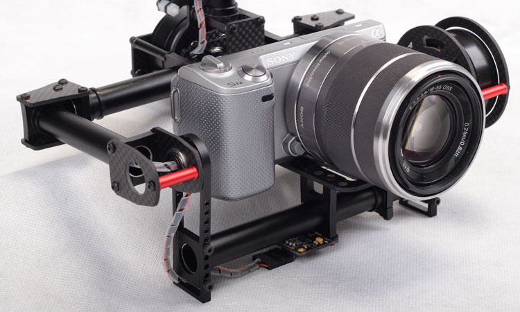2 Axis dslr Brushless Gimbal camera gimbal