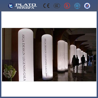 high quality helium column for event, inflatable advertising led light pillar