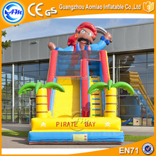 Fun Kids Slide Games Outdoor Giant Inflatable Double Lane Slip Slides for party event