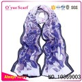Factory Wholesale Spring Styles Chiffon Screen Printing Scarf