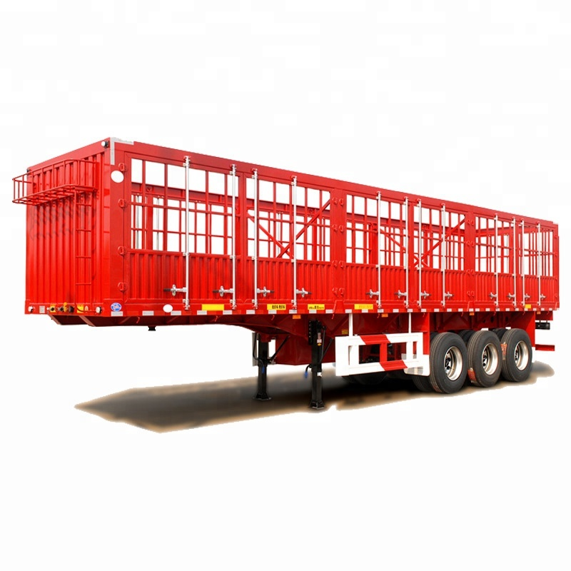 3 <strong>Axles</strong> 12 <strong>Wheels</strong> Stake Fence Cargo Trailer 13T Fuwa <strong>Axle</strong> Cargo Semi Trailer