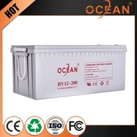 12V 200ah low price economic anti-corrosion small rechargeable 12v battery