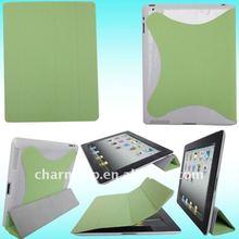 Magnetic Leather Smart Cover with Hard Back Case for iPad 2