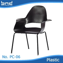 ABS POPULAR cheap outdoor BBQ plastic chair with chromed legs