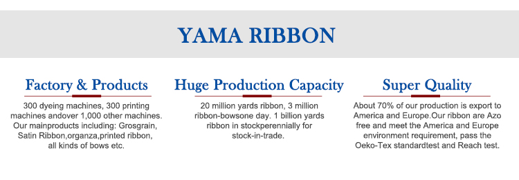 Yama factory stocked  5/8'' custom printed white ribbon label