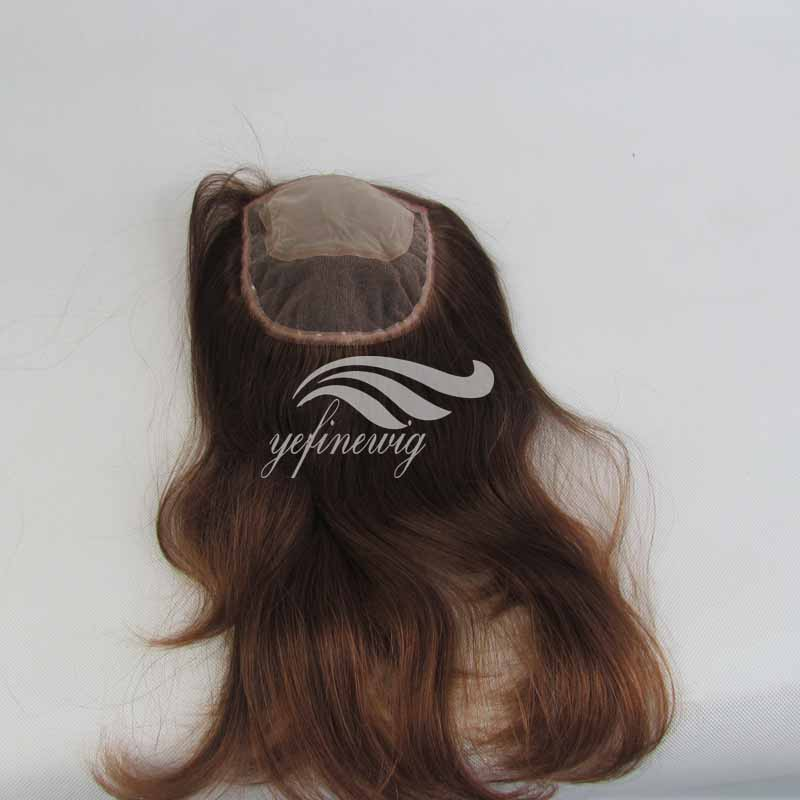 Hot quality hair half wig high toppers human hair topper closure wiglet