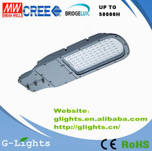 60w led street light with cree/bridgelux/epistar chip meanwell drive street light