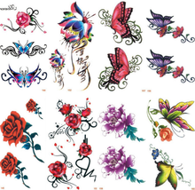 waterproof skin safe temporary tattoo sticker,fashionable butterfly stickers
