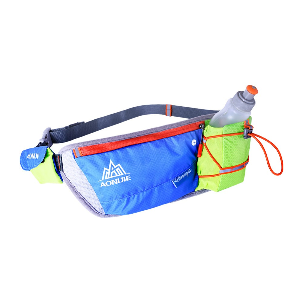 2016 AONJIE sport water bottle holder fanny waist bag, wholesale sport waist pack