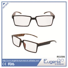 square optic shortsight profession unisex wooden reading glasses
