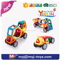 JM022429 yirun diy toys magnetic puzzle beads plastic connecting blocks for kids